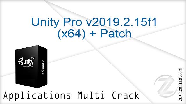 Unity Pro v2019.2.15f1 (x64) + Patch