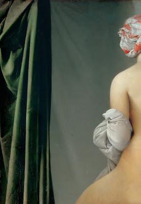 La bagnante di Valpinçon un dettaglio dell'opera