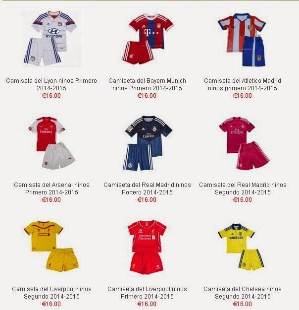 equipaciones de futbol niños