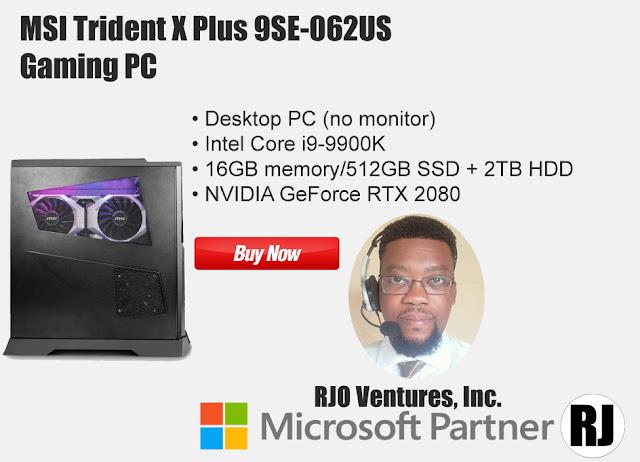 MSI Trident X Plus 9SE-062US Gaming PC [RJOVenturesInc.com] Microsoft Partner