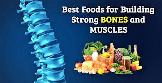 Healthy food for strong bones and muscles