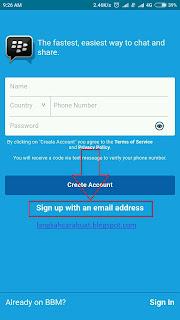 Masuk BBM   Cara Membuat Akun BBM Dengan Email & Nomer HP
