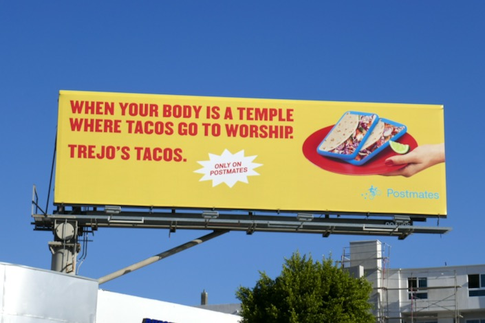 Trejos Tacos Postmates billboard