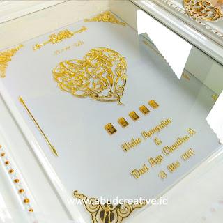 Mahar Pernikahan Acrylic Mirror Gold ABUD Creative Design Mojokerto