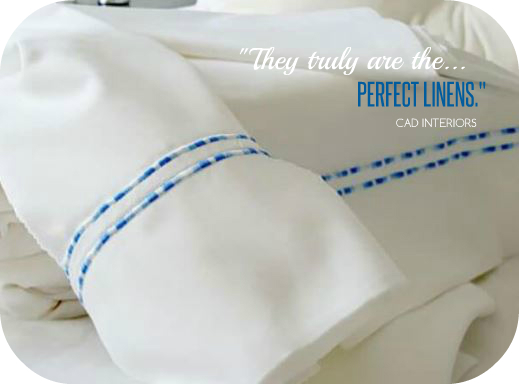 double blue stripe embroidery European 100% all-cotton sheets