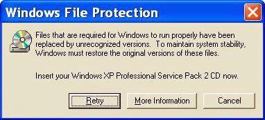jendela windows file protection