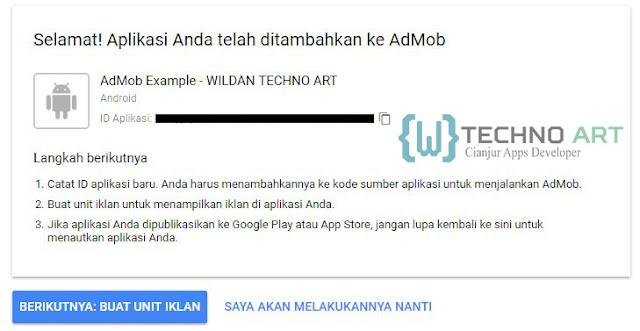 WildanTechnoArt-Menambahkan Aplikasi baru Pada AdMob