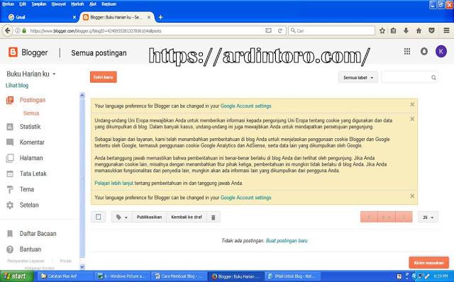 Panduan Membuat Blog Geratisan di Lengkapi Gambar Terbaru