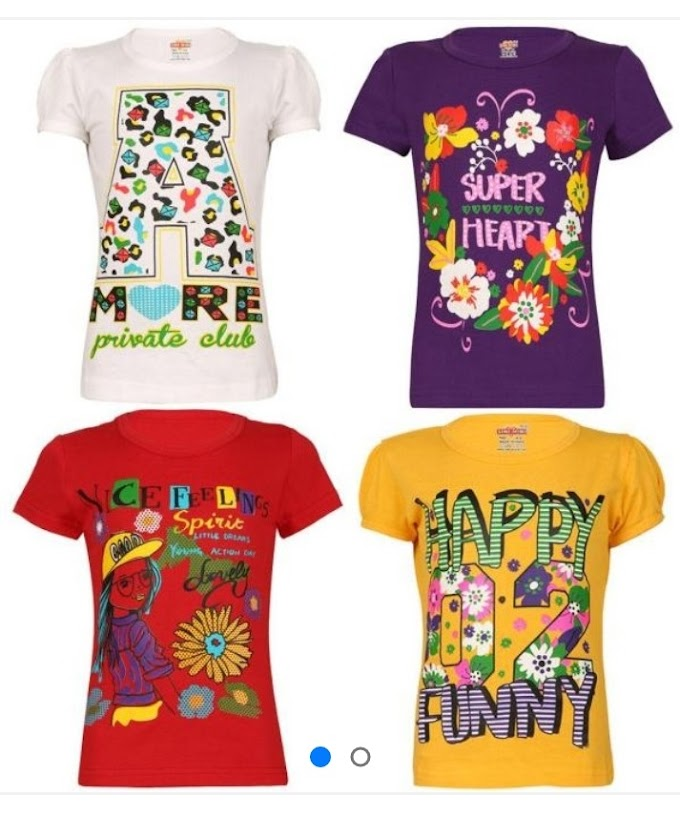 2 to 17 Years Old Girls Printed T-Shirts Combo Multipacks Online Shopping | 2 to 17 Years Old Girls Cotton T-shirt Online Shopping | Pack of 4 Cotton Printed T-shirt For Girls Online Shopping | Combo of 5 T-shirt Online Shopping | Girls Cotton T-shirt Online Shopping | T-shirt For Girls Online Shopping | Girls T-shirt Online | Online Shopping in India |