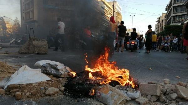 Libaneses protestan contra los efectos de la crisis económica