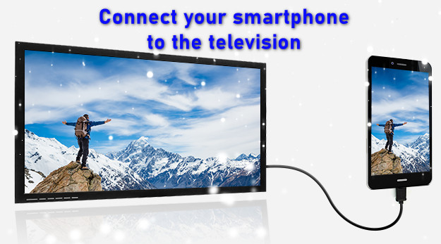 Connect your smartphone to the television