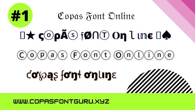 copas font online
