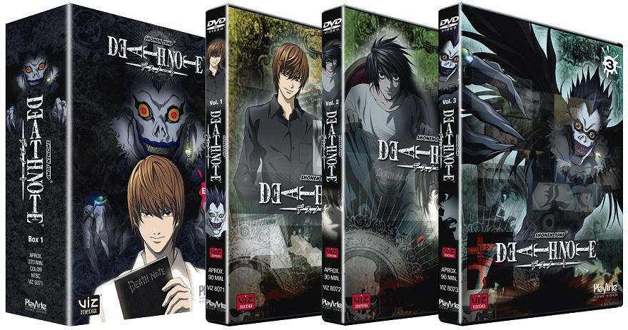 Death Note - O primeiro volume será lançado em um box contendo 3 DVDs com 4 episódios cada, e também serão vendidas edições individuais.