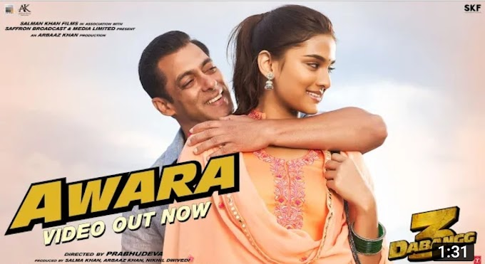 Awara: dabangg 3 lyrics in Hindi