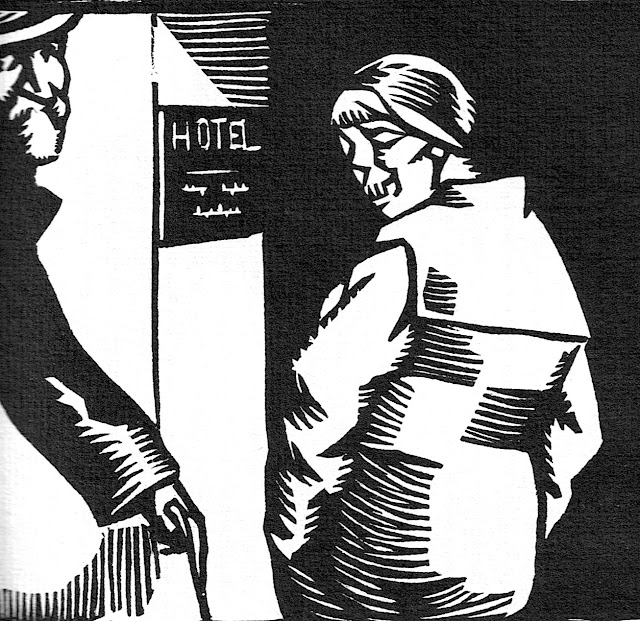 a René Georges Hermann-Paul wood-cut of a sex worker