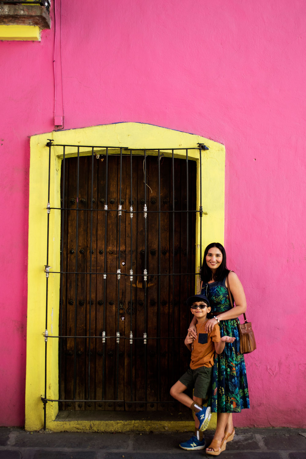 Colorful walls and door Puebla