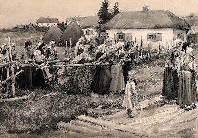 Processó religiosa per aturar el còlera en la Russia rural