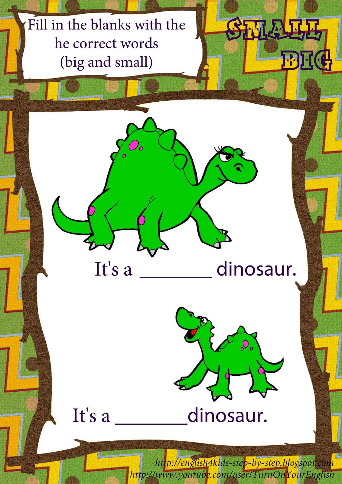 Dinosaur Song For Preschool Kids