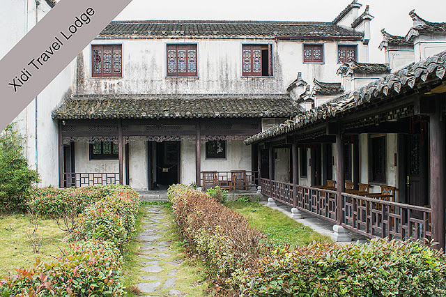 La cour intérieure du Xidi Travel Lodge