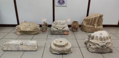 Συνελήφθη 40χρονος για κατοχή, αποδοχή και διάθεση προς πώληση αρχαίων κινητών μνημείων
