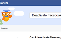 How to deactivate Facebook Messenger App