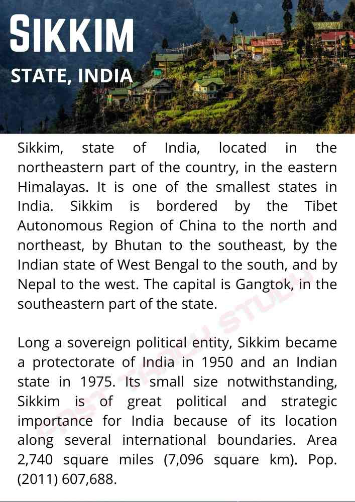 Art Integrated Project on Sikkim