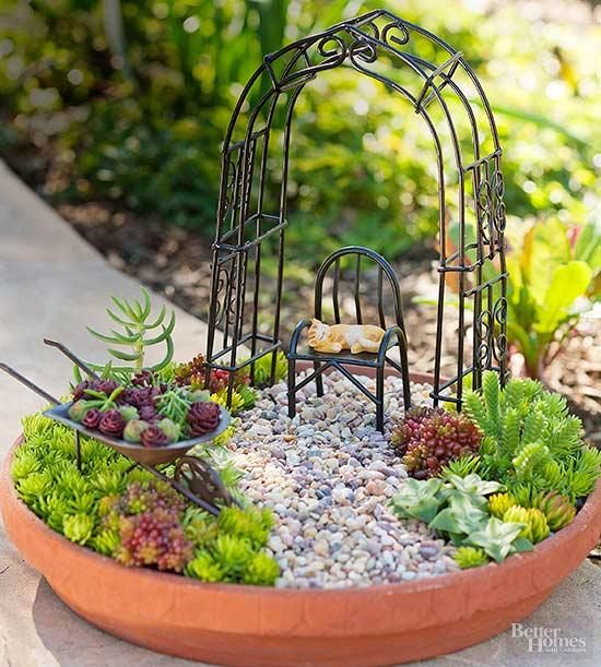 How to make a lovely miniature succulent garden