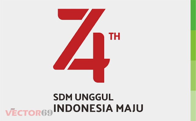 Logo HUT RI ke 74 Tahun 2019 Tema SDM Unggul Indonesia Maju - Download Vector File CDR (CorelDraw)