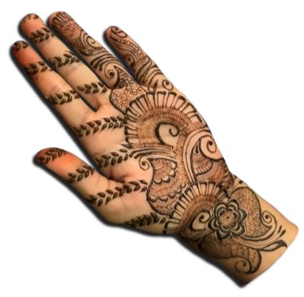 Rajasthani Mehndi Designs for Front Hand