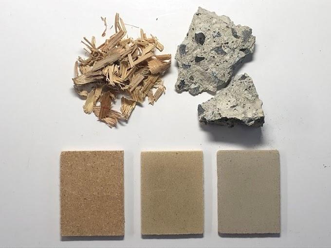 Concreto reciclado junto com madeira é melhor que concreto novo