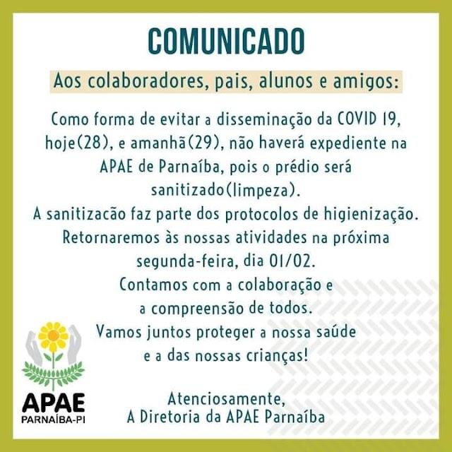 Comunicado APAE