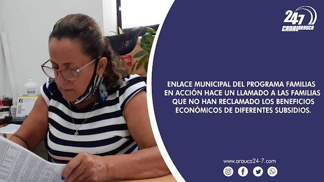 ENLACE MUNICIPAL DEL PROGRAMA FAMILIAS EN ACCIÓN HACE UN LLAMADO A LAS FAMILIAS QUE NO HAN RECLAMADO LOS BENEFICIOS ECONÓMICOS DE DIFERENTES SUBSIDIOS.