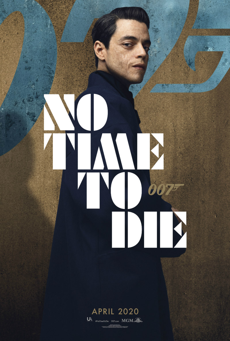 no time to die poster rami malek