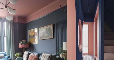 Warna Biru Navy Kombinasi Pink Pastel