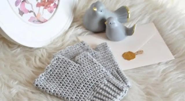 Tutorial Mitones o Guantes sin Dedos a Crochet