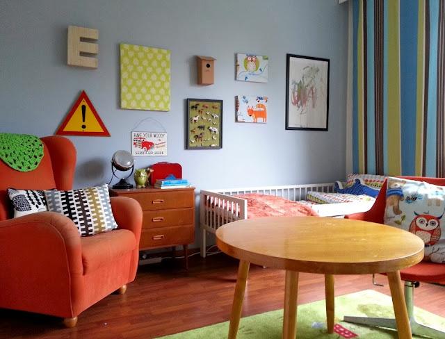 Pojan huoneessa saa olla reippaita värejä!