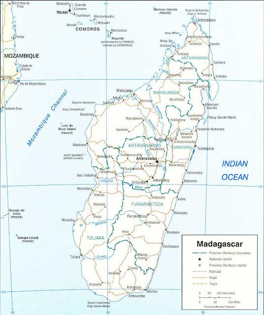Gambar Peta politik Madagaskar 2003