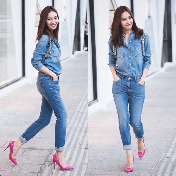 Denim on denim - Xu hướng thời trang khiến sao Việt phát cuồng