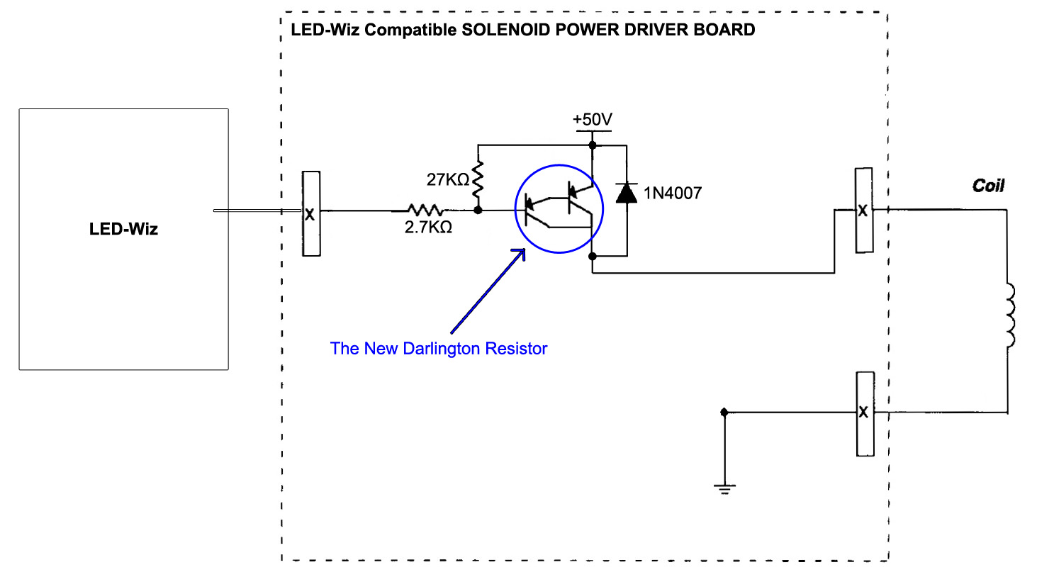 hight resolution of compared to the williams high power circuit this new led wiz optimized circuit is