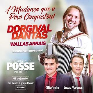 Posse de Olivânio e Lucas Marques em Picuí neste domingo; atrações confirmadas