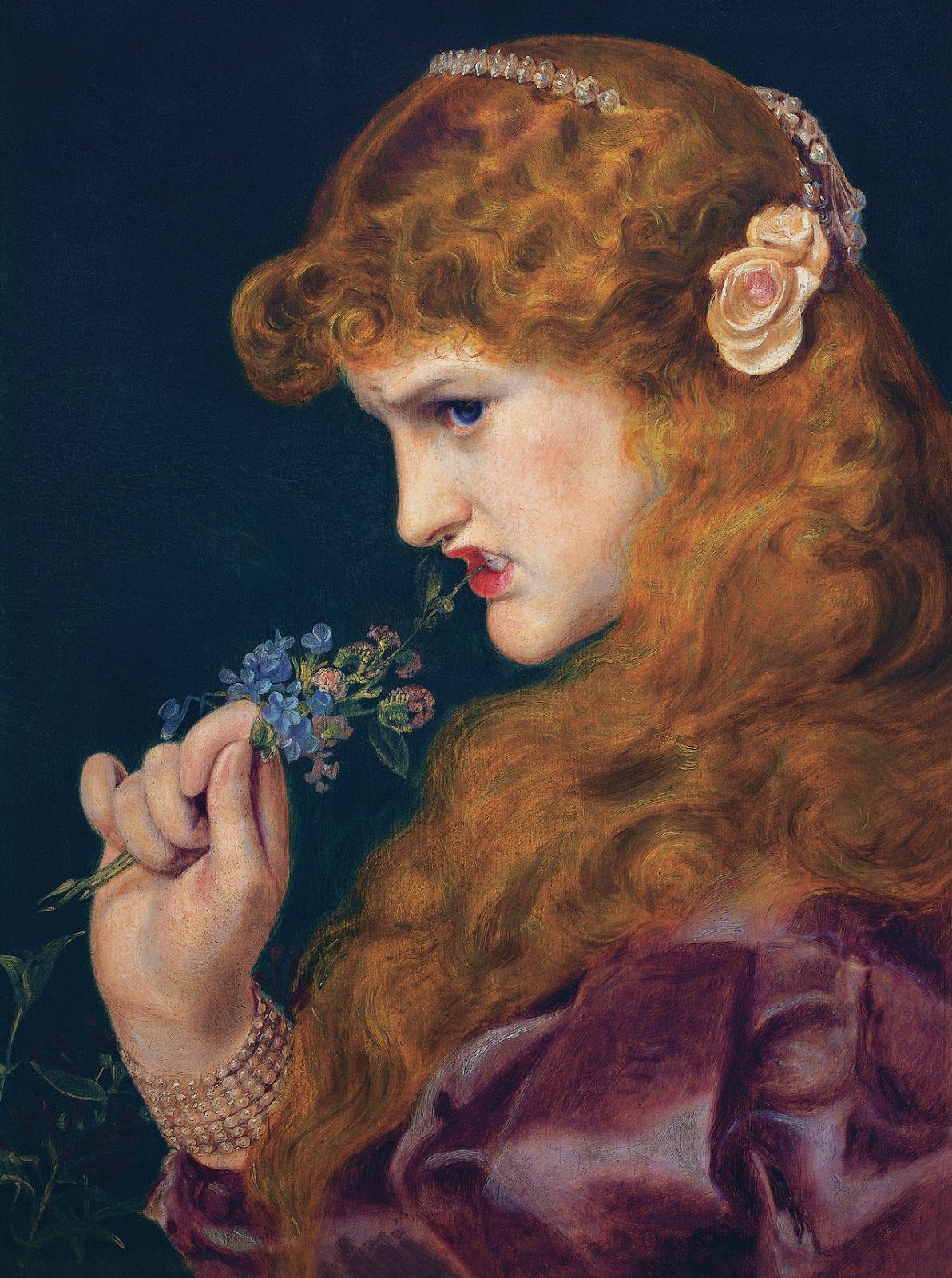 Pre Raphaelite Art: Love's Shadow By Frederick Sandys, 1867