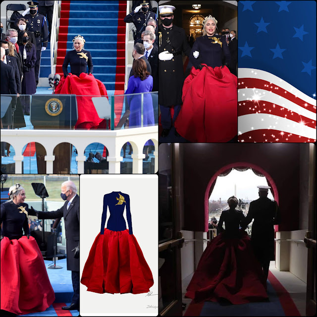 Inauguration of President Joe Biden – Lady Gaga in Schiaparelli dress by Daniel Roseberry -RUNWAY MAGAZINE