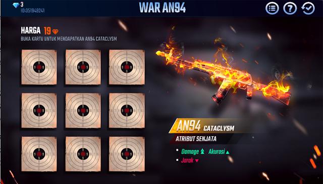 Event Skin Senjata Free Fire War AN94 Catalysm AR Beraura Api