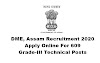 DME, Assam Recruitment 2020: Apply Online For 609 Grade-III Technical Posts. Last Date: 15-07-2020