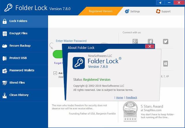 Screenshot Folder Lock 7.8.0 Full Version