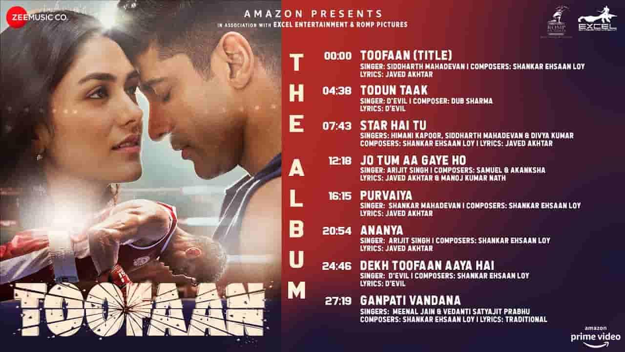 पुरवैया Purvaiya lyrics in Hindi Toofaan Shankar Mahadevan Hindi Bollywood Song