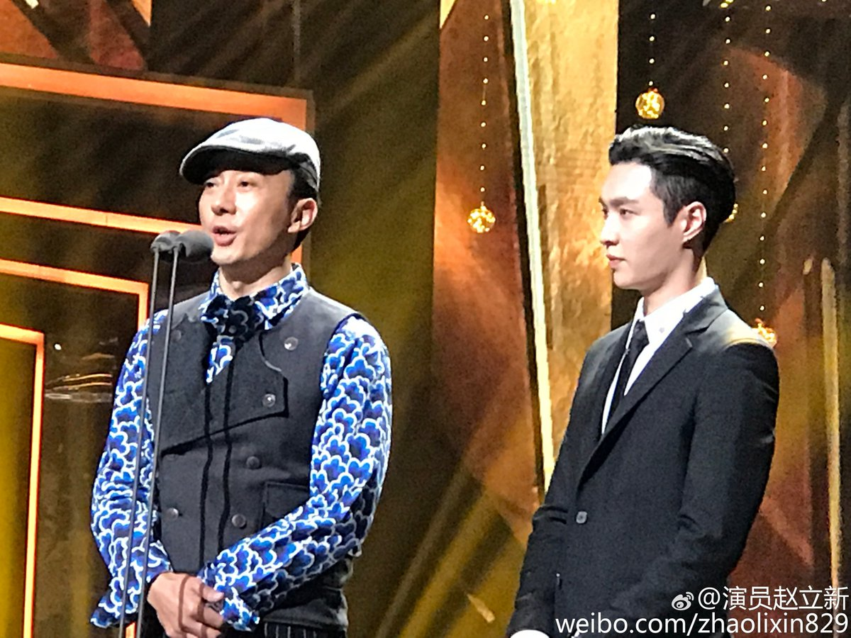 "[TRANS] 170226 Actor Zhao Lixin Weibo Update: ""Thank you Lay for accompanying me"""