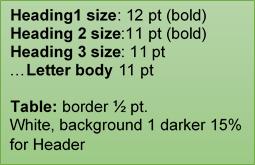aviation manual headers font size