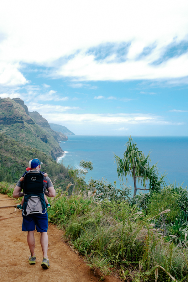 Beautiful views along the Na Pali coast hike