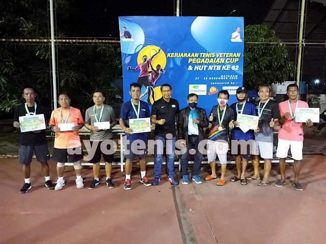 Inilah Para Kampiun Open Tournament Tennis Veteran Pegadaian Cup